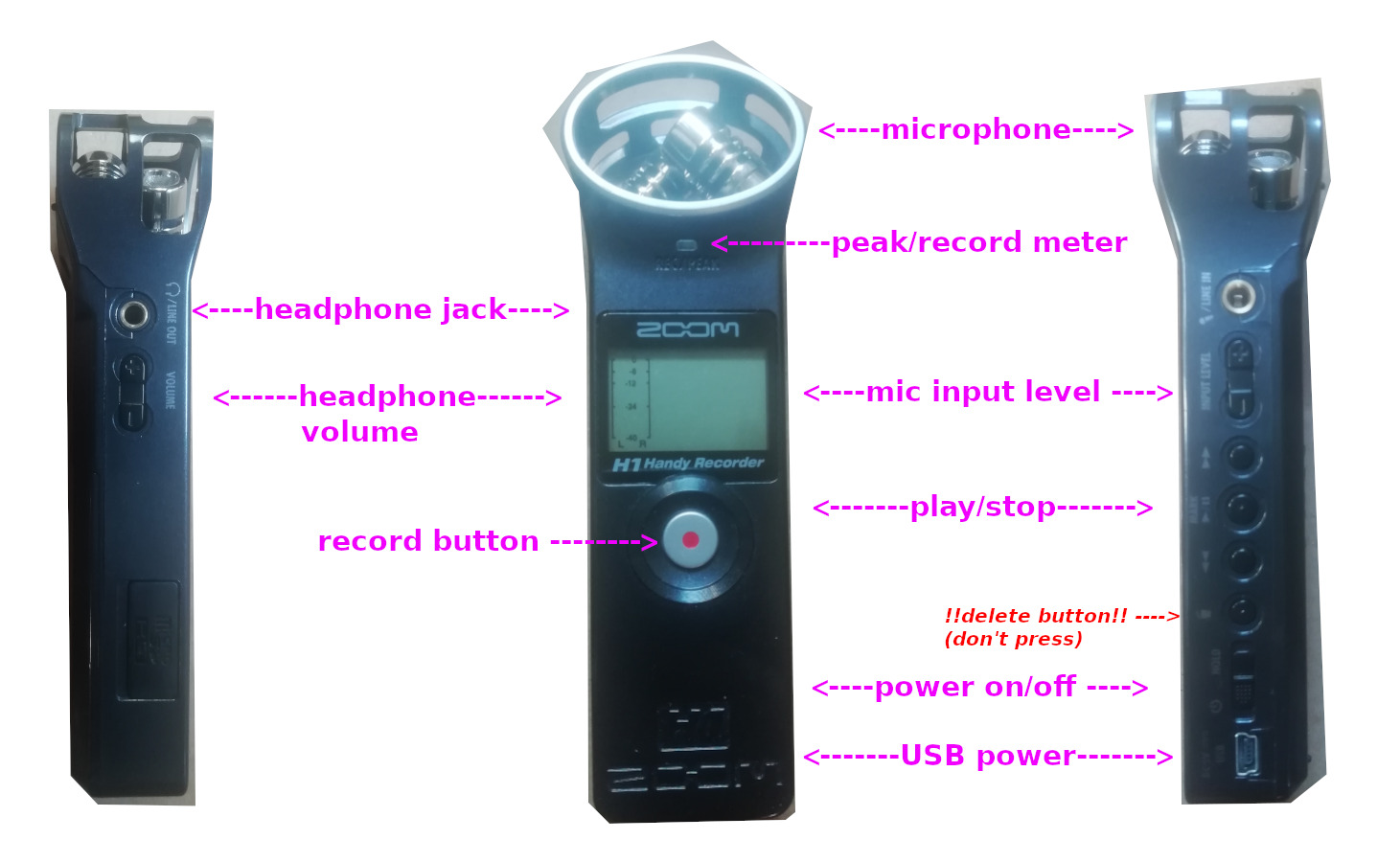 ZOOM recorder instructions